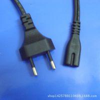 厂家直销优质环保AC电源二插巴西头转八字尾大功率连接电源线