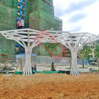 供应树造型定制钢结构现代艺术房地产城市景观广场抽象不锈钢雕塑