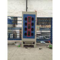 供应佛山玻璃喷砂机百洲半自动玻璃打砂机