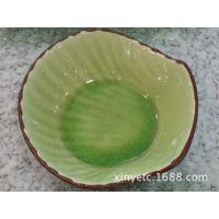 """6""""壳碗 陶瓷餐具冰裂釉碗日韩式个性米线粉面碗 汤碗微波炉饭碗"""