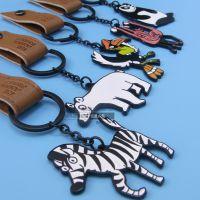 厂家定制动物钥匙扣 皮革卡通钥匙链 金属礼品赠品定做