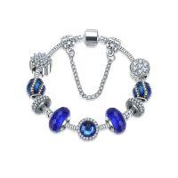 ebay速卖通热销欧美潘家琉璃珠水晶手链 女士精美DIY手饰跨境货源