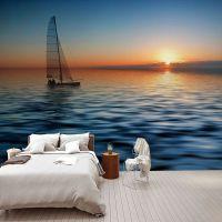 唯美海景壁纸北欧现代简约电视背景墙纸定制客厅卧室床头大型壁画