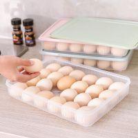 冰箱鸡蛋收纳保鲜盒24格鸡蛋格蛋托厨房带盖防尘食物收纳盒