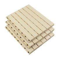 天戈槽木环保吸音板 会议室体育馆木质隔音板墙体隔音