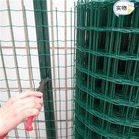 现货浸塑荷兰网 菜园铁丝围网规格 绿色圈地围网价格