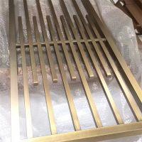 拉丝青古铜水镀点焊焊接304不锈钢管屏风拼接制作生产大型屏风厂