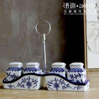 摆件家居|景德镇陶瓷器古典青花瓷厨房用品调味瓶 烧烤调料瓶