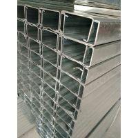 镀锌C形槽钢 锌钢檩条 钢结构材料生产厂家现货库存 可订制C