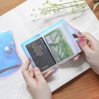 韩款幻彩镭射多卡位卡包 创意公交pvc证件卡套20卡位批发名片夹