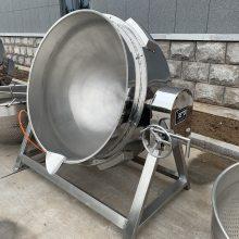 坚果炒货不锈钢夹层锅 电加热炒锅