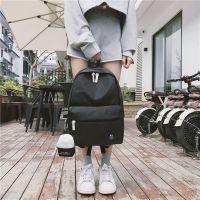 2018新款ins书包原宿韩版初高中学生校园双肩包女纯色帆布包背包