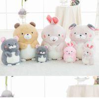 可爱土拨鼠毛绒玩具仓鼠公仔创意小兔子小熊玩偶布娃娃生日礼物