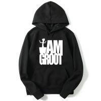 外贸新款电影银河护卫队 格鲁特 树精 Groot男士连帽卫衣