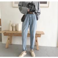 杭州便宜牛仔裤清货时尚韩版女士牛仔裤库存牛仔裤厂家批发