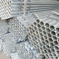 镀锌钢管长期批发 热镀锌消防管 Q235B镀锌圆管 4寸镀带管过磅卖