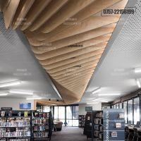杭州室内铝合金装饰 仿木纹铝方通造型定制