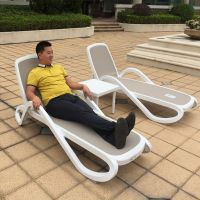 上海度假酒店泳池躺椅耐磨耐晒户外编藤沙滩躺椅