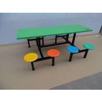 玻璃钢靠背餐台椅价格、乾务镇饭堂用4人位桌椅订购