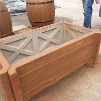 热销钢筋水泥仿木花箱 仿木纹花桶 新款花箱组合