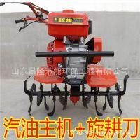 果园新型微耕机 家用型柴油耕耘播种施肥机
