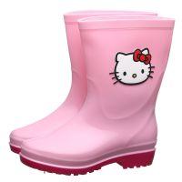 HelloKitty儿童雨鞋女童卡通正品雨靴中童大童防滑胶鞋一件代发