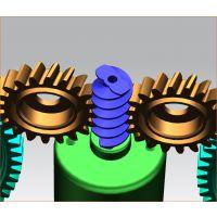 双头蜗杆蜗轮齿轮3D设计