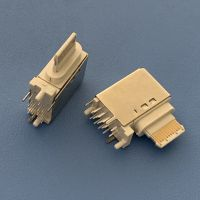 TYPE C16P侧插母座 快充16P USB 3.1/90度侧立式插板母座白胶C型接口仿原装苹果款