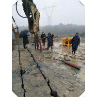 湖南矿山岩石开采解决不能爆破的静态破石头设备愚公斧YGF130