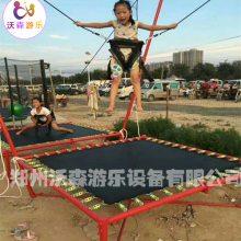 广西贵港广场儿童蹦床,公园钢架蹦极受小孩子喜欢挣钱项目经营