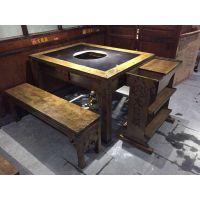 重庆老火锅古典中式实木火锅餐厅桌椅