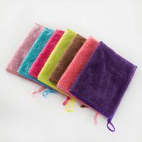 双层加厚珊瑚绒家用清洁布不掉毛易吸水方巾浴室擦手巾厂家批发