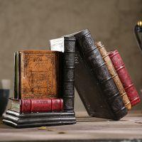 JFJS创意复古仿真书书档桌面装饰品摆件家居书房房间书柜工艺小摆