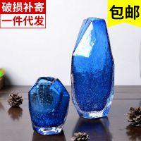 彩色玻璃花器摆件客厅桌面迷你玻璃花瓶装饰品术插花瓶器手工吹制
