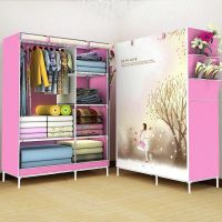 简约收纳架拉链居家柜子加高储物柜单人租房衣柜经济型加固小孩外