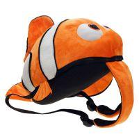 动漫海底总动员小丑鱼毛绒双肩包 尼莫Nemo学生背包文具书包公仔