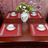 一件代发新款欧式美式现代奢华灯芯绒棉布艺餐垫可订
