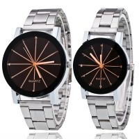 韩版时尚钢带情侣手表时尚个性情侣学生手表 学生手表 爆款