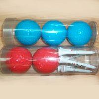 深圳工厂现货批发PVC高尔夫球透明卷边圆筒 圆形塑料包装盒定做