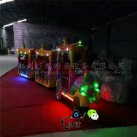 厂家直销儿童炫彩电瓶玩具笑脸款托马斯观光火车游乐设备古典火车