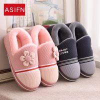 秋冬季家居家用情侣棉拖鞋包跟厚底可爱保暖防滑男女毛毛月子拖鞋
