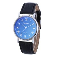 GENEVA蓝光手表罗马字面时尚男士表皮带石英手表微商爆款货源