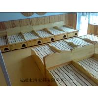 江油/德阳幼儿园实木午休床定做 成都木洛使用标准环保漆