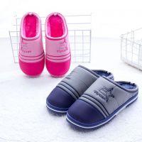 2018新款棉鞋 羽绒布防水防汗包跟棉拖鞋 冬季男女拖鞋保暖棉拖