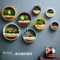 创意店铺墙饰奶茶店墙面墙上装饰品挂件餐厅饭店墙壁绿植盆栽壁挂