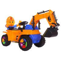 新款儿童全电动挖掘机老挖机可骑可坐带音乐工程玩具车