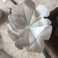 不锈钢荷叶雕塑 不锈钢花朵雕塑
