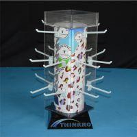 厂家专业生产亚克力透明展示架 耳环饰品展示架 四面旋转展示架