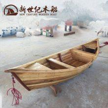 欧式手划尖头木船哪里订做 小湖装饰划桨独木舟小游船