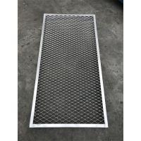 海宁生产防火铝拉伸网吊顶冲孔铝网板拉网铝单板生产商 广东欧百建材提供